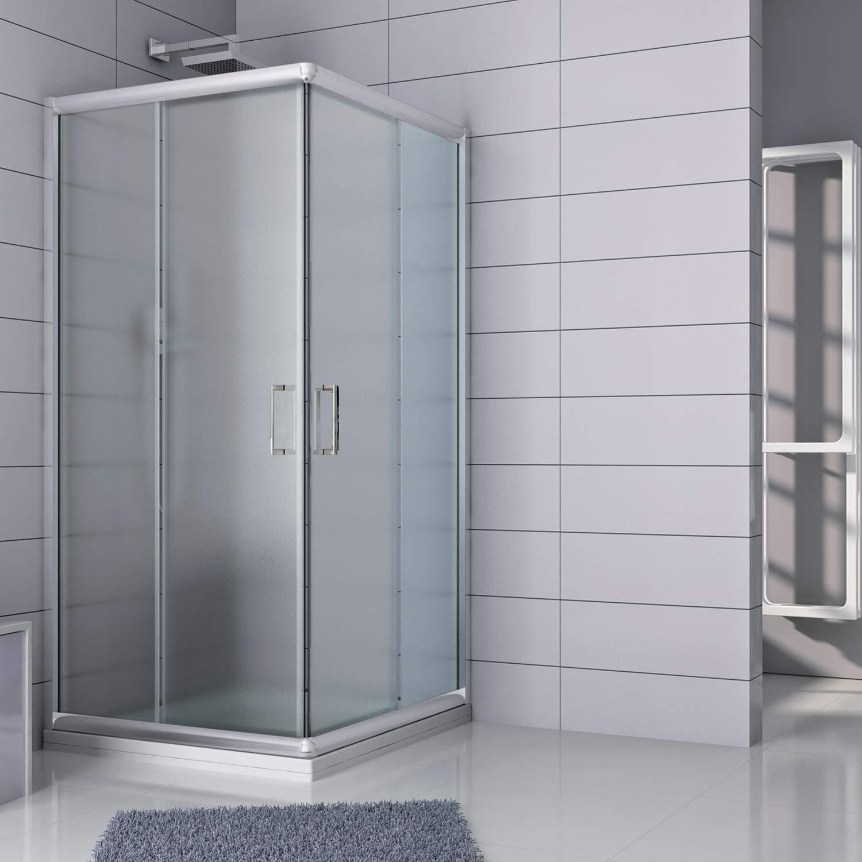 Cabina de ducha rectangular 70 x 90 x 185 (altura) cm, estampado C ...
