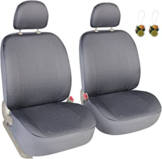 Leader Accessories Gray Sport Low Back Front Car Seat Covers, Set of 2, Cloth Seat Protector for Trucks SUV, Airbag Ready