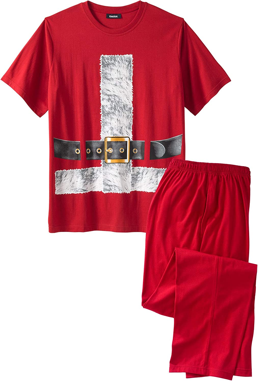 KingSize Mens Big /& Tall Holiday Pajama Set Pajamas