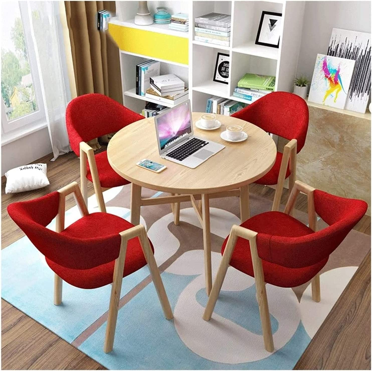 Modern Furniture Round Max 71% OFF Dining Table Hall Dallas Mall Business Set and