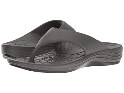 Aetrex Lynco Flip (Charcoal) Men