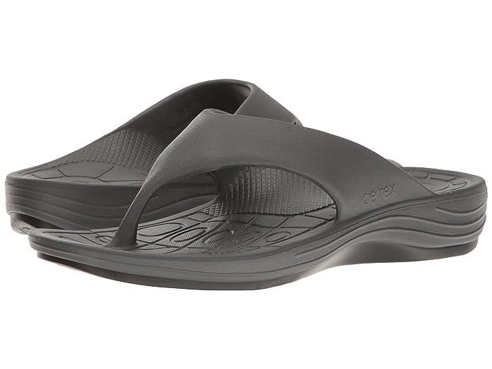 Aetrex  Lynco Flip (Charcoal) Mens Sandals