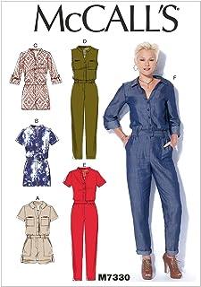 """McCall""""s Patterns McCall""""s Muster 7330 ZZ, Damen-Strampler und Jumpsuits, Größen LRG-XXL, Mehrfarbig, X XX-Large"""