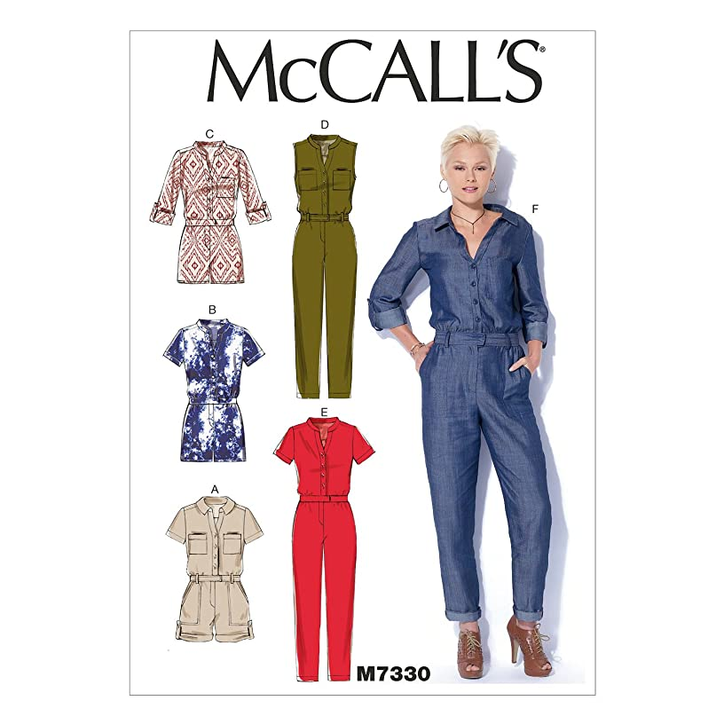 McCall's Patterns M7330 Misses' Button-UP Utility Jumpsuits & Rompers, ZZ (Large-X-Large-XX-Large)