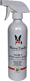 Warren London 10-in-1 After Bath Spray and Leave-in Conditioner for Dogs and Cats - Dematting Spray - 4oz & 16oz 16 Fl Oz ...