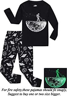 Dolphin&Fish Boys Christmas Pajamas Little Kids Pjs Sets 100% Cotton Toddler Clothes Sleepwears