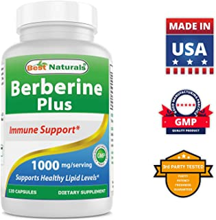 Best Naturals Berberine Plus 1000mg/Serving Supports Healthy Glucose Metabolism (Non-GMO) 120 Capsules