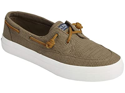 Sperry Crest Boat Smocked Hemp (Olive) Women