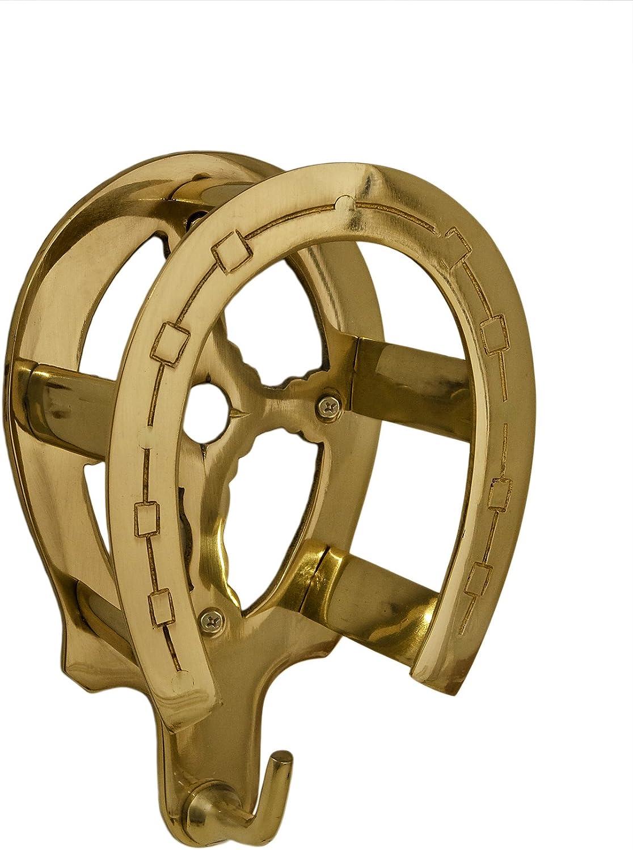 Tack Room Studio Brass Horseshoe Bridle Rack- Brass Finish : Pet Supplies