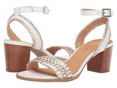 Jack Rogers Tinsley Mid Heel (White/Platinum) Women