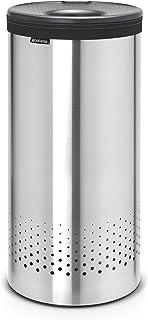 Brabantia 103469 Corbeille à Linge avec Couvercle Inox/Plastique Acier Mat 35 L 29,7 x 29,7 x 63,5 cm
