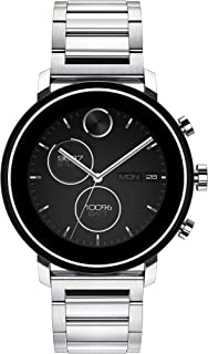 Connect 2.0 Unisex Powered with Wear OS by Google Stainless Steel and Stainless Steel Smartwatch, Color: Silver (Model: 3660035)