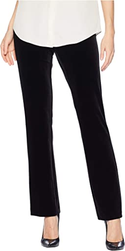Long Velvet Pull-On Pants