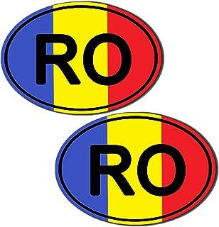 Motivo Adesivi Bandiera Oval codice Paese Auto Moto rumeno ro Romania