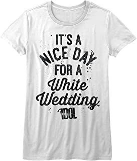 American Classics Billy Idol 1980s Punk Rock Singer Nice Day White Wedding Juniors T-Shirt Tee