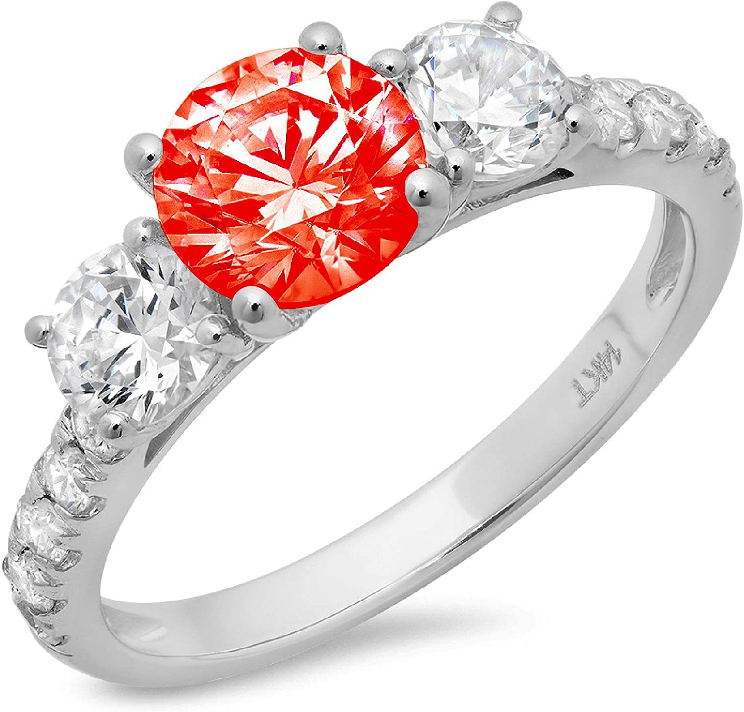 2 ct Brilliant Some reservation Max 70% OFF Round Cut Solitaire stone Flawle Genuine Accent 3