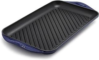"Le Creuset L2032-4078 Extra Large Double Burner Grill, 15-3/4"" x 9"" x 1"", Indigo"