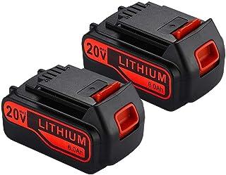 Paquete de 2 baterías de litio LB2X4020 6.0Ah 20V MAX para Black and Decker 20V Batería LBXR20 LBXR20-OPE LB20 LBX20 LBX4020 LB2X4020-OPE