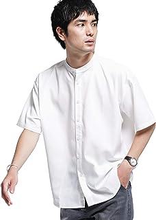 ナノ・ユニバース(nano・universe) 《WEB限定》エントリーワイドバンドカラーシャツ 半袖