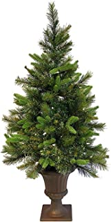 Vickerman 3.5' Pre-Lit Battery Operated Cashmere Potted Christmas Tree - Clear LED Lights