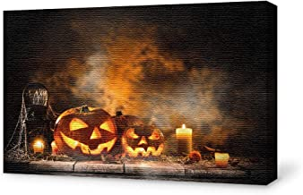 wall26 Canvas Wall Art Halloween Pictures Home Wall Decorations for Bedroom Living Room Paintings Canvas Prints Framed - 24x36 inches