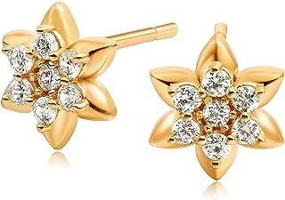 OSIANA Tiny Hamsa Stud Earring for Women 18K Gold Filled Dainty Small Cute Cubic Zirconia Evil Eye Butterfly Snake Lotus C...