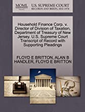 Household Finance Corp. v. Director of Division of Taxation, Department of Treasury of New Jersey. U.S. Supreme Court Tran...
