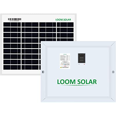 LOOM SOLAR 10 Watt, 12 Volt Solar Panel - Poly Crystalline