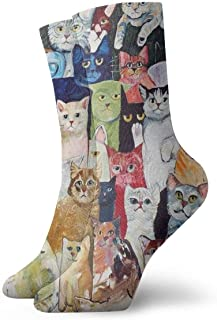Jhonangel, Gatos Calcetines de vestir de animales Calcetines divertidos Calcetines locos Calcetines casuales para niñas Niños