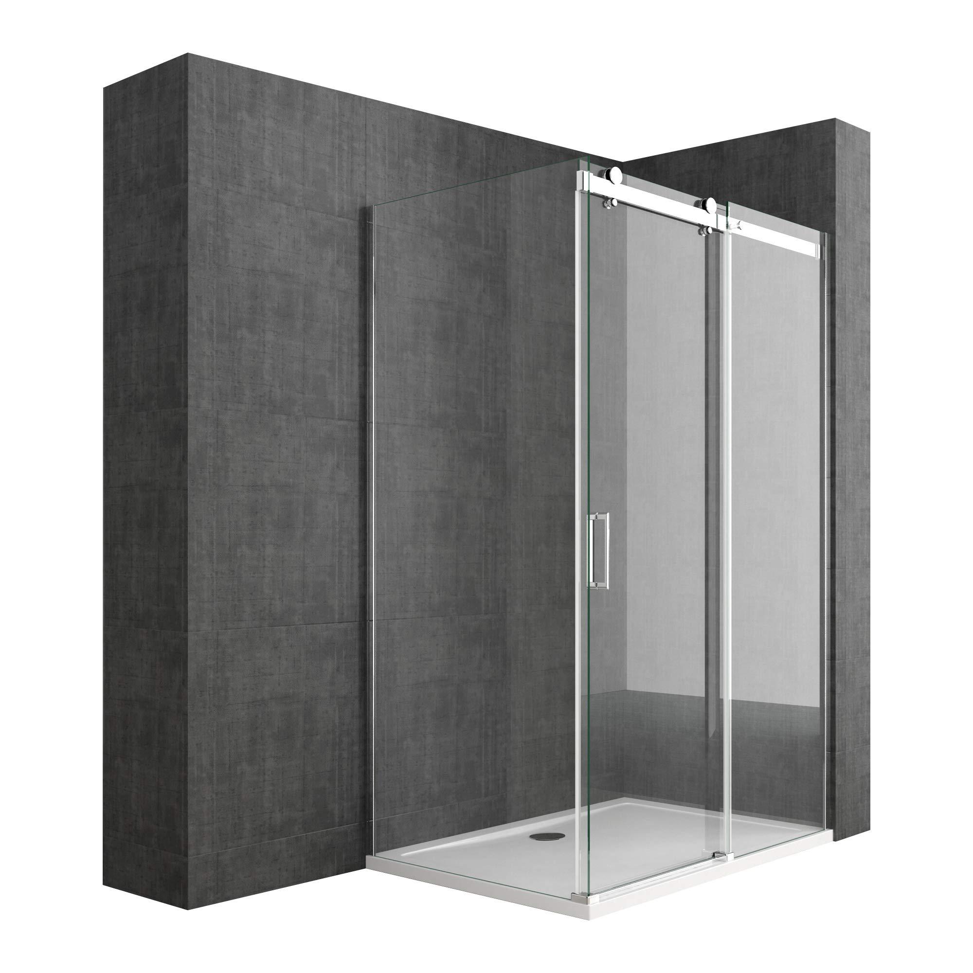 Sogood: Cabina de ducha diseño Ravenna17, 80x130x195cm, mampara de ...