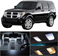 SCITOO 15Pcs White Interior LED Light Package Kit Replacement Bulbs Fits for Dodge Nitro 2007-2011