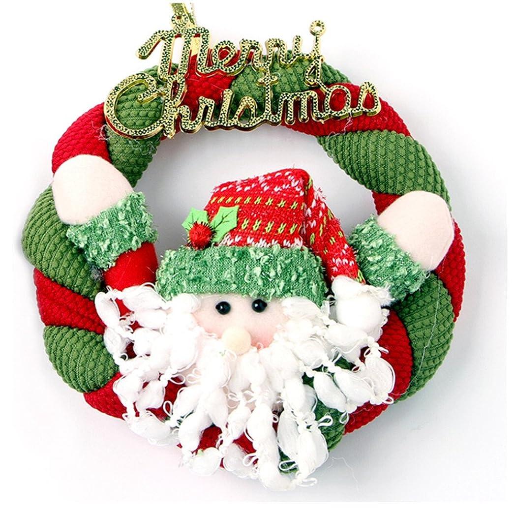 パンチ騒経過クリスマス リース 飾り かわいい 選べる 多種類  デコレーション ベル 布 ゴールド  プレゼント 贈り物にも 直径 20cm