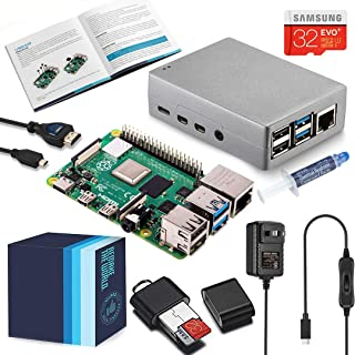 Vilros Raspberry Pi 4 Complete Starter Kit with Heavy-Duty Self Cooling Aluminum Alloy Case (8GB)
