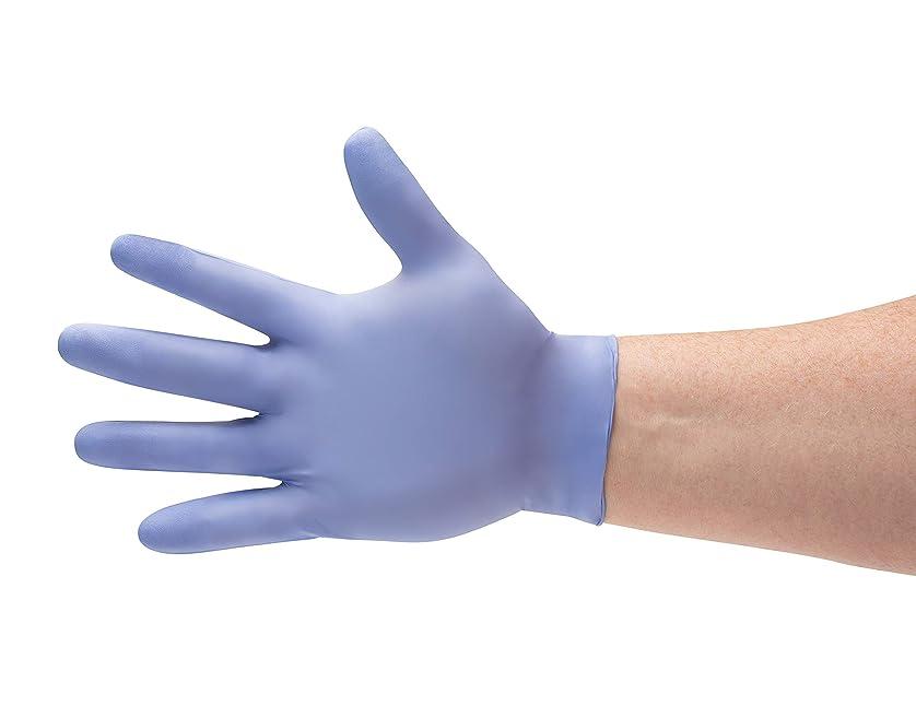 リルアラビア語それによってミディアムサイズブルーニトリル化学防止、パウダーフリー医療試験手袋3.5?Mil 900-count by PSBM