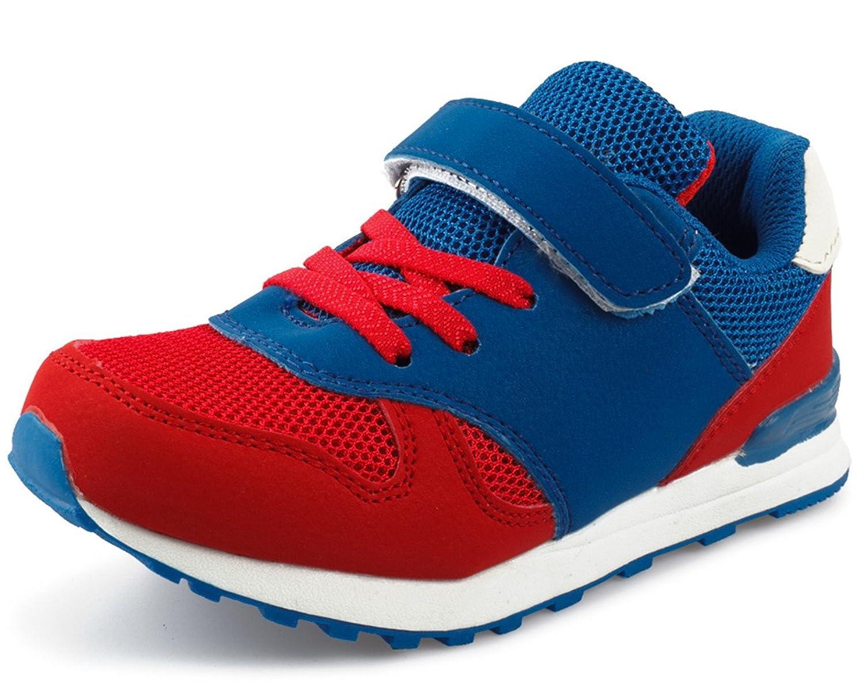 (ダダウン)DADAWEN 子供靴 スニーカー 男の子 女の子 運動靴 通気 コンフォート ジュニア スポーツシューズ 履き心地抜群 滑り止め 通学靴 ブルー 16cm