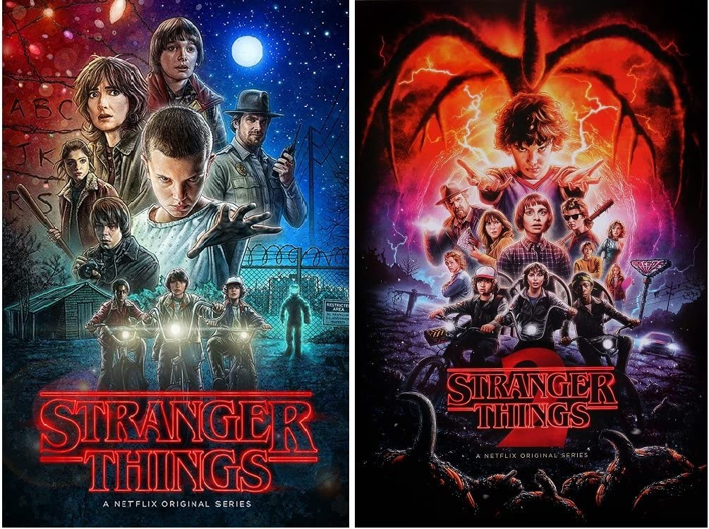 Amazon Com Stranger Things Posters Season 1 And 2 Posters Set 2 Posters Size Each 24x36 Posters Prints Trends is excited to bring stranger things posters, calendars, planners, decals, stickers and bookmarks to the fans who love the mystery and adventure centered around hawkins, indiana. stranger things posters season 1