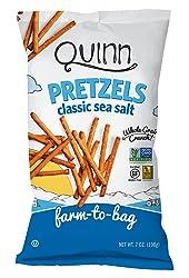 Quinn Snacks Non-GMO and Gluten Free Pretzels, Classic Sea Salt, 7 Ounce (8 Count)