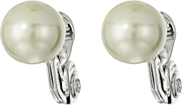 10 mm Pearl Button Clip Earrings