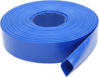 Abbott Rubber 1147-2000-100FT General Purpose Reinforced PVC Lay-Flat Water Discharge Hose, 2-Inch by 100-Feet, Blue - Pack of 2