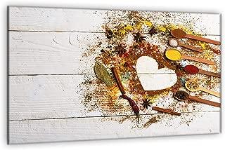 Ceranfeld Copertura Fornello lastre di copertura PARASPRUZZI frutti in vetro 60x52 cm