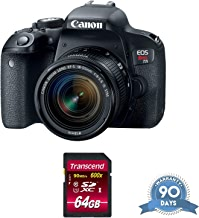 $618 » Canon EOS Rebel T7i DSLR Camera with 18-55mm Lens with Memory Card - (Renewed)