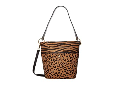 SOLE / SOCIETY Colia Bucket Bag (Brown Leopard) Handbags