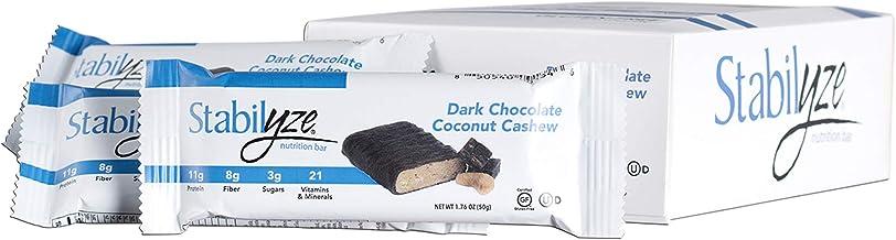 Dark Chocolate Coconut Cashew Nutrition 12 Bars - 2 Pack - Stabilyze Nutrition Bar