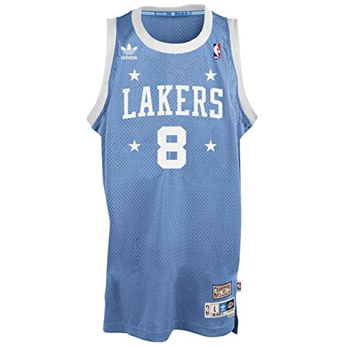 adidas Kobe Bryant Los Angeles Lakers Light Blue Throwback Swingman Jersey