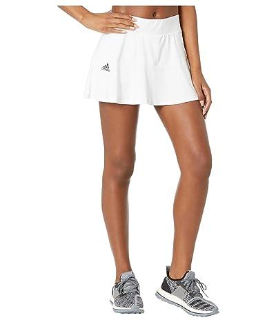 adidas Tennis Match Skirt (White/Black) Women