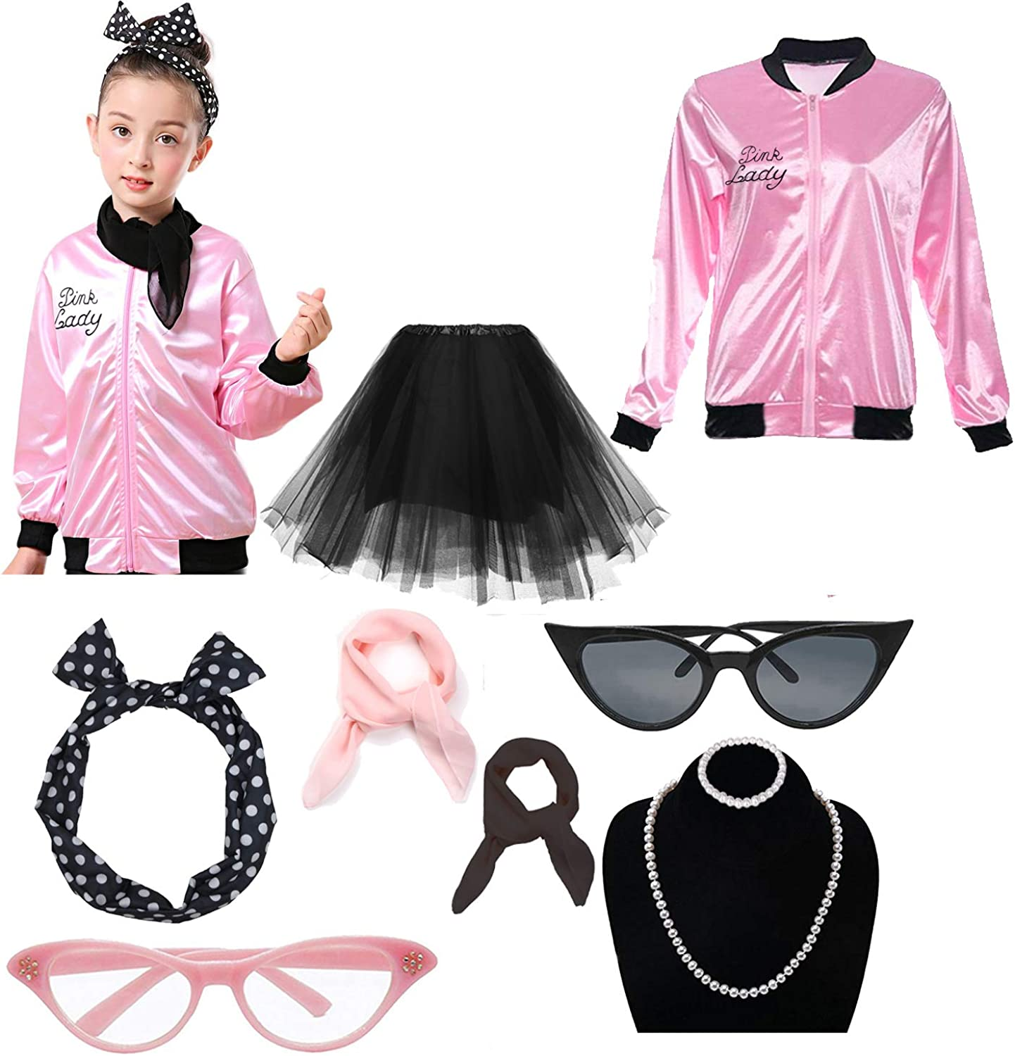 Max 56% OFF Dancing Stone Child Girls 50's 25% OFF Jacket with Headband Costume