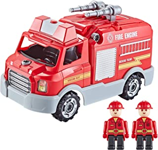 Think Gizmos Take Apart Fire Engine with Lights, Sounds and 32 Pieces – Build Your Own Fire Engine Toy Kit for Boys and Girls Aged 3 4 5 6 7 8 (inc Screws and Electronic Drill) – TG807