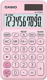 Casio sl-310uc-pk – 口袋计算器,0.8 x 7 x 11.8厘米,粉色