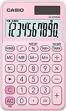 Casio SL-310UC-PK Tischrechner 10-stelliges LC-Display mit Rechenbefehl Anzeige, pink