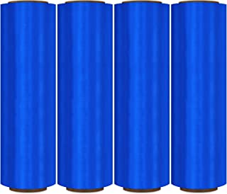 Pre-Stretch Wrap, Plastic Shrink Wrap, Blue, 17 Inch x 1476 Feet, 32 Gauge, 4 Pack